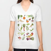 calendar V-neck T-shirts featuring Calendar-January thru June by Brooke Weeber