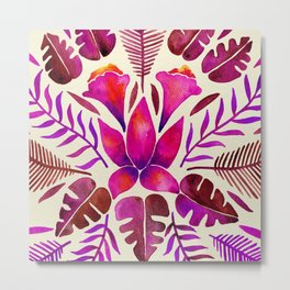 Tropical Symmetry – Magenta Metal Print