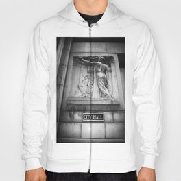 City Hall Chicago Black and White Hoody
