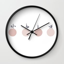 Busy days-Pink Wall Clock
