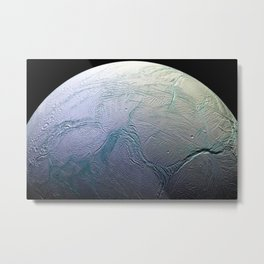 Saturn's moon Enceladus Space Mission Fly-by Photograph Metal Print