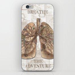 breathe the adventure-world map 1 iPhone Skin