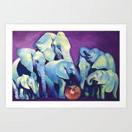 Elephat's Soccer Art Print