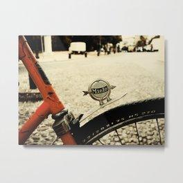 Miele Vintage Bike Metal Print