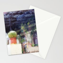 Through the window: Soft colors abstract Stationery Cards