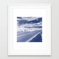 modest mouse Framed Art Prints featuring Modest Mouse - This Is a Long Drive for Someone with Nothing to Think About by NICEALB