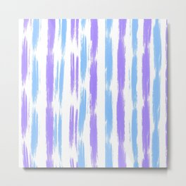 Blue and Purple Oil Stripes Pattern Metal Print