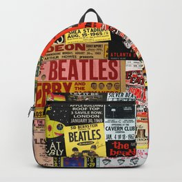 Vintage Rock Concert Posters Backpack