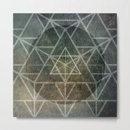 Tetrahedron Ignis Metal Print