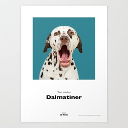 Projekt 100 Hunde Dalmatineren Pongo Art Print