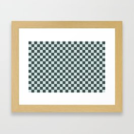 Checkerboard Pattern Inspired By Night Watch PPG1145-7 & Cave Pearl PPG1145-3 Framed Art Print