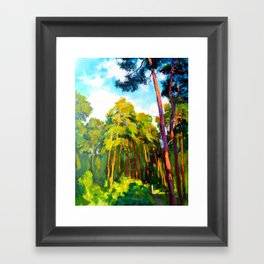Whisper of pines Framed Art Print