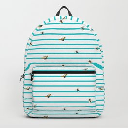 stripes of the bees Backpack
