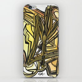 Slingshot Abstract Line Art Painting iPhone Skin