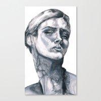 tatoo Canvas Prints featuring Tatoo peace by Zoli Amandine