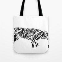 labrador Tote Bags featuring Labrador Scribble by Jake Stanton