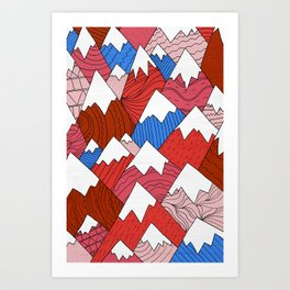 The Red Mountains (Pattern) Art Print