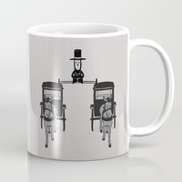 lincoln Mugs featuring Epic Lincoln by Phil Jones