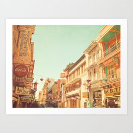 Chinatown, San Francisco, ca Art Print