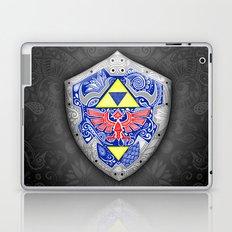 Zelda's shield - black Laptop & iPad Skin