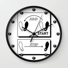Time Warp Chart Wall Clock