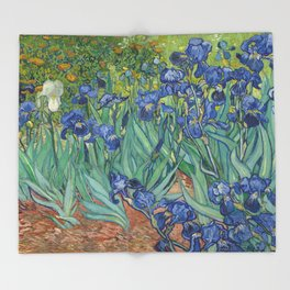 Irises Throw Blanket