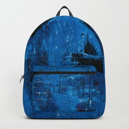 Blue Abyss (Blue Abstract) Backpack