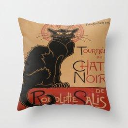 Theophile Steinlen's Tournee du Chat Noir de Rodolphe Salis Throw Pillow