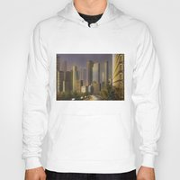 cityscape Hoodies featuring Cityscape by Viggart