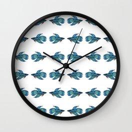 Kissing Betta Fish Wall Clock
