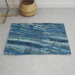 Ocean Depths Blue Marble Rug