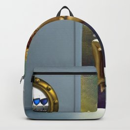 Angels Dancing- In Over My Head In Love, But It Sure Feels Nice - romantic portrait collage painting Backpack