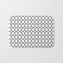 Black Circle Pattern Bath Mat