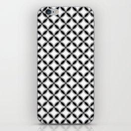 Small White and Black Interlocking Geometric Circles iPhone Skin
