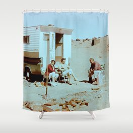 Dustbowl Camping Shower Curtain