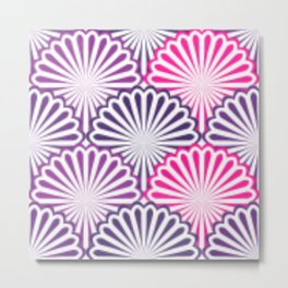 Pink and Shades of Purple Shells Metal Print