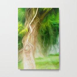Dream Light Green Tree Metal Print