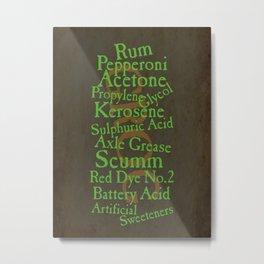 Grog recipe Metal Print