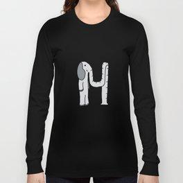 Letter H Long Sleeve T-shirt