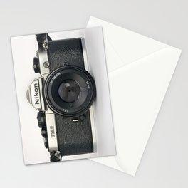 Classic chemicol retro camera. 35 mm format camera Stationery Cards