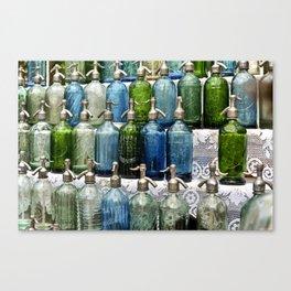 vintage bottles II Canvas Print