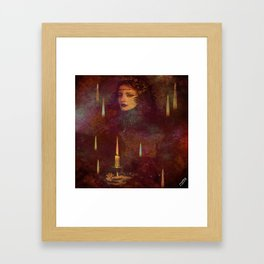""""""" The experience is a candle which lights only the one who carries """"  Framed Art Print"""