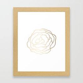 Flower in White Gold Sands Framed Art Print