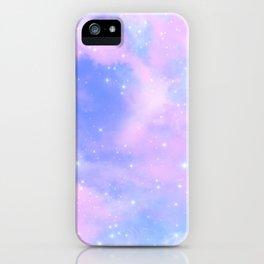 Decorative Magical Sky Pink Clouds Dreamy Stardust iPhone Case