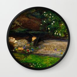 John Everett Millais - Ophelia Wall Clock