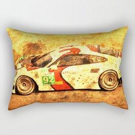 2014 911 RSR classic race car golden background Rectangular Pillow