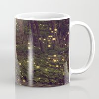 fireflies Mugs featuring Fireflies by Maureen Anne
