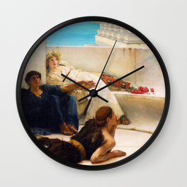 Lawrence Alma-Tadema - A Reading From Homer1 - Digital Remastered Edition Wall Clock