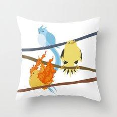 Fluffy Legendary Bird Throw Pillow