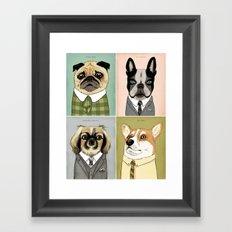 Mad Men Dogs 3 Framed Art Print